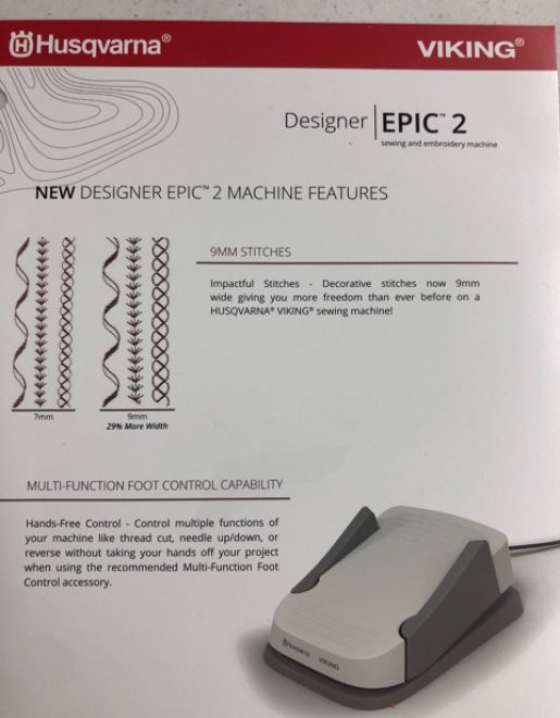 Husqvarna Viking Designer Epic Ii Bonnies Sewing Center